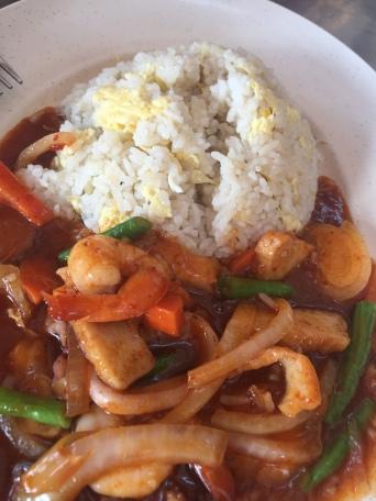 Nasi Goreng Paprik Seafood (Malaysian)